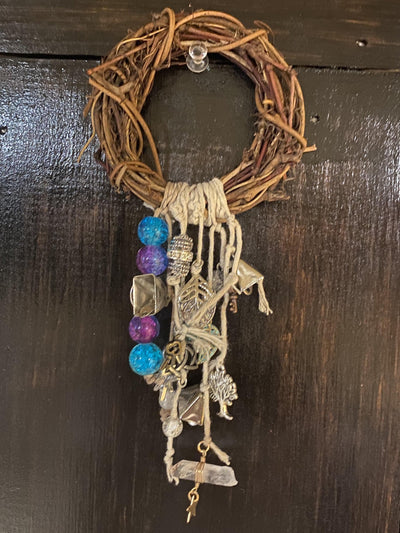 Wiccan Protection Wreath - Witches Bell