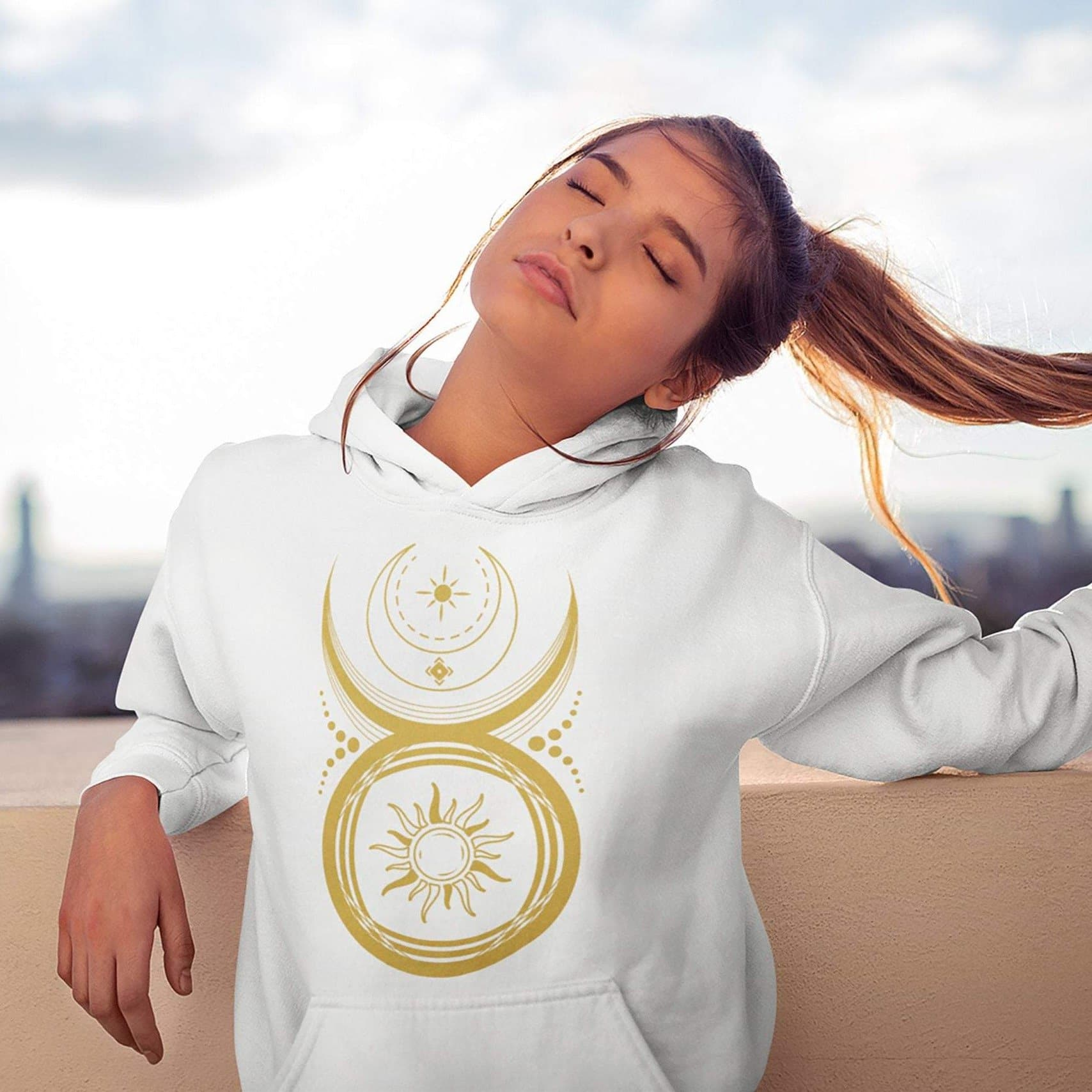 Wiccan The Horned God Sun And Moon Unisex Hoodie Ancient Treasures Ancientreasures Viking Odin Thor Mjolnir Celtic Ancient Egypt Norse Norse Mythology