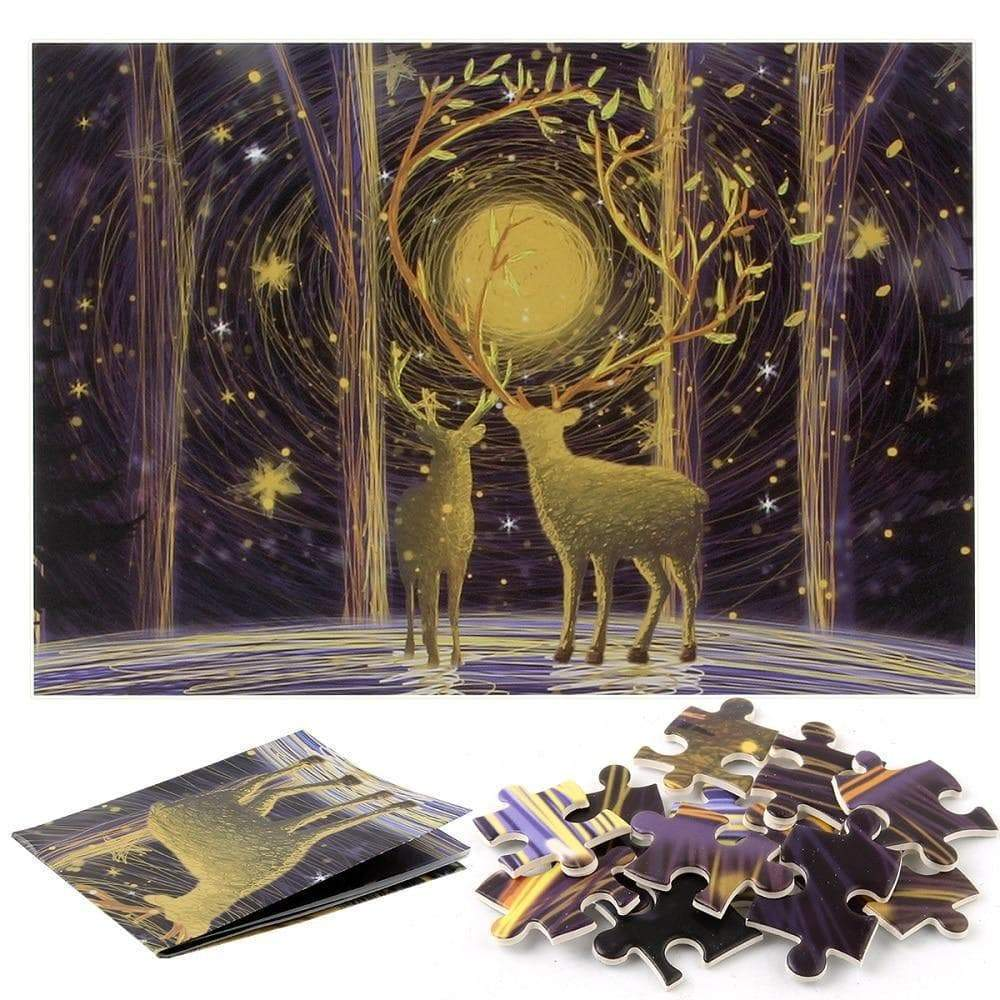 Wiccan Warm Deep Forest Elk 1000 Piece Jigsaw Puzzle Ancient Treasures Ancientreasures Viking Odin Thor Mjolnir Celtic Ancient Egypt Norse Norse Mythology