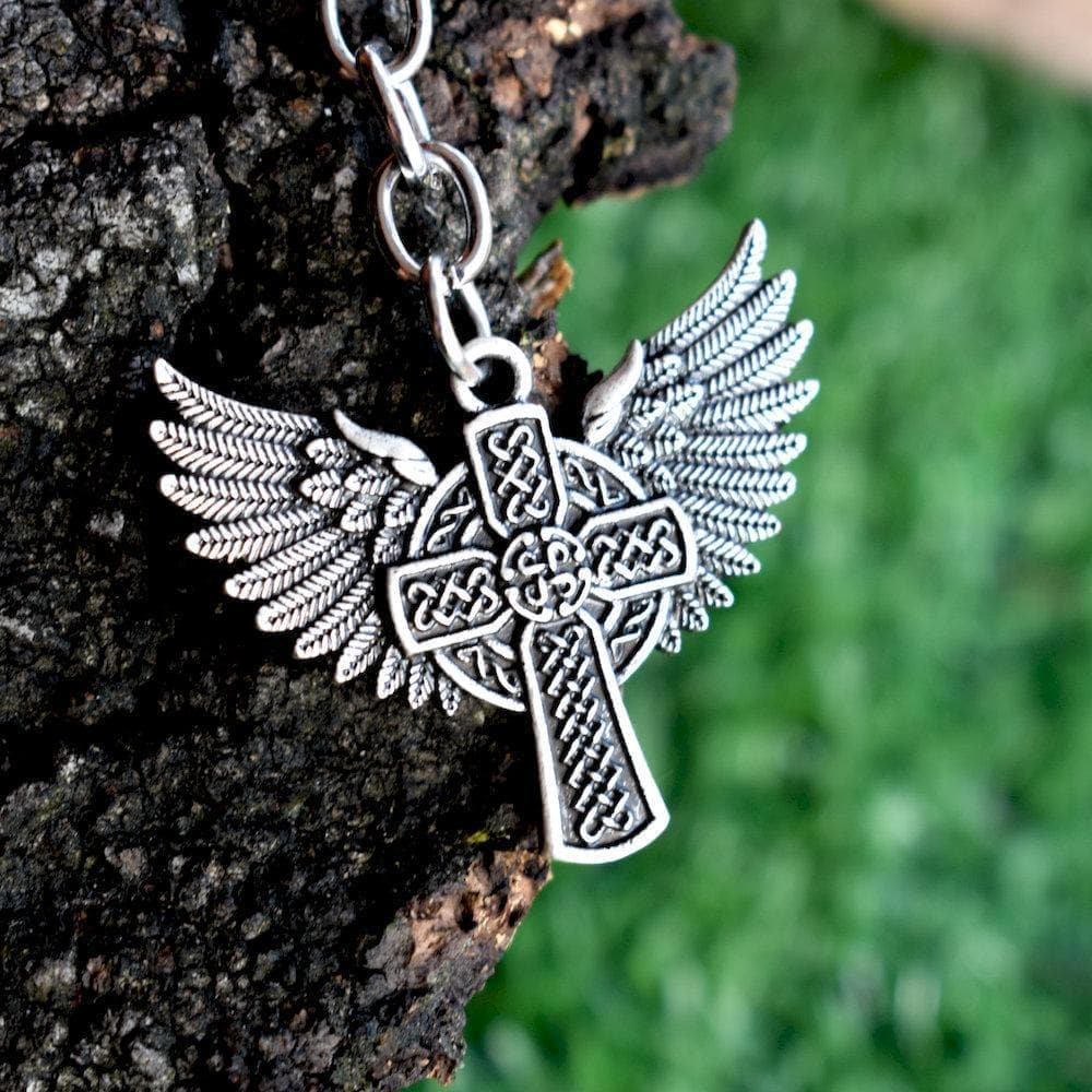 Winged Celtics Knot Cross Stainless Steel Keychain Ancient Treasures Ancientreasures Viking Odin Thor Mjolnir Celtic Ancient Egypt Norse Norse Mythology