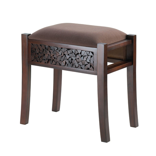 Rectangle Wood Padded Foot Stool