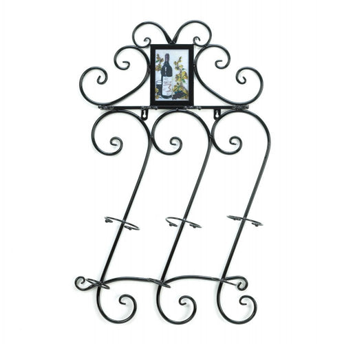 Wrought Iron Wine Wall Rack