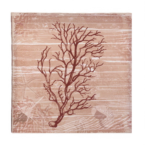Sea-swept Coral Canvas Wall Art