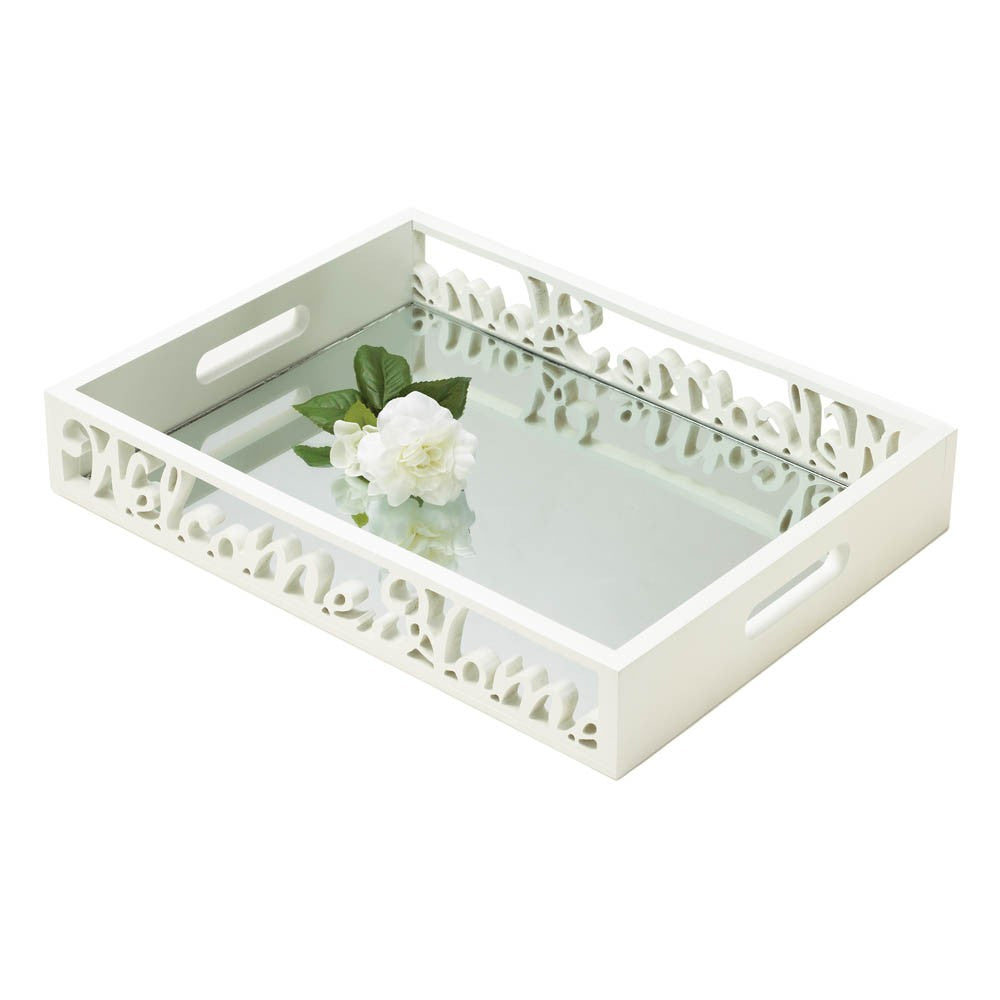 Welcome Home Mirror Tray