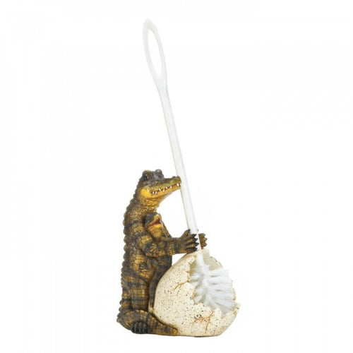 Crocodile Family Toilet Brush Holder