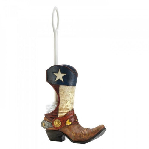 Cowboy Boot Toilet Brush Holder