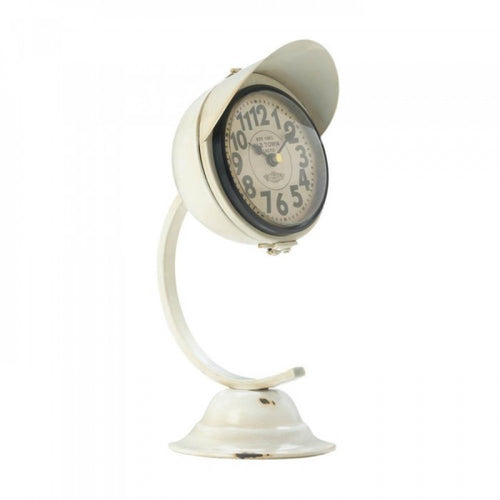 White Vintage Desk Clock