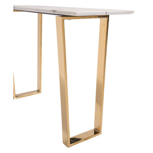 Atlas Console Table Stone & Gold