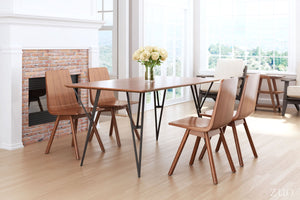 Audrey Dining Table Walnut & Black