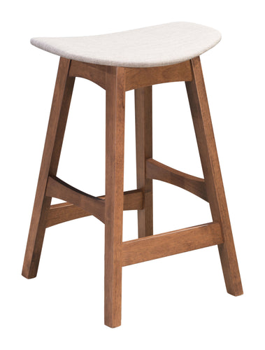 Allen Counter Stool Dove Gray & Walnut