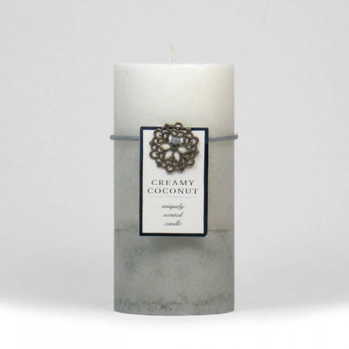 Creamy Coconut Pillar Candle 3x6