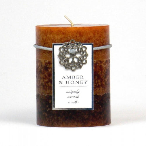 Amber & Honey Pillar Candle 3x4