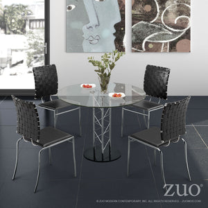 Chardonnay Dining Table Chrome