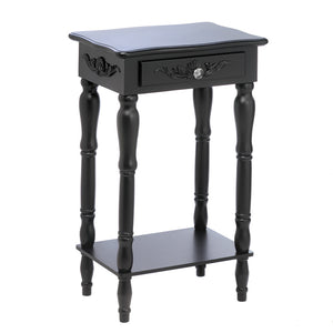 Carved Black Side Table
