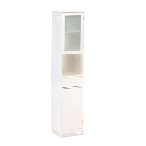 Tall White Storage Cabinet