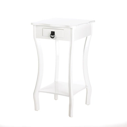 Curvy White Accent Table