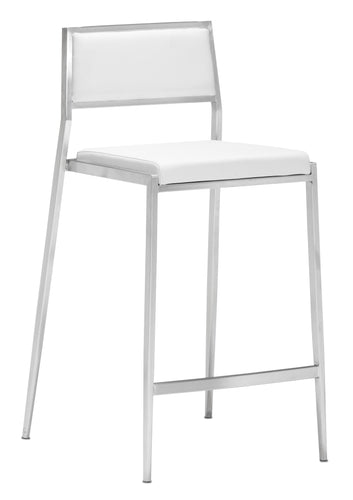 Dolemite Counter Chair White