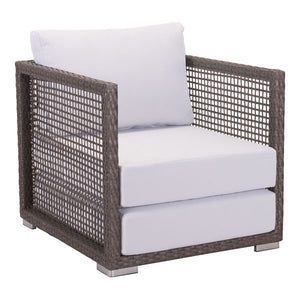 Coronado Arm Chair Cocoa & Light Gray