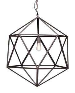 Amethyst Ceiling Lamp Large