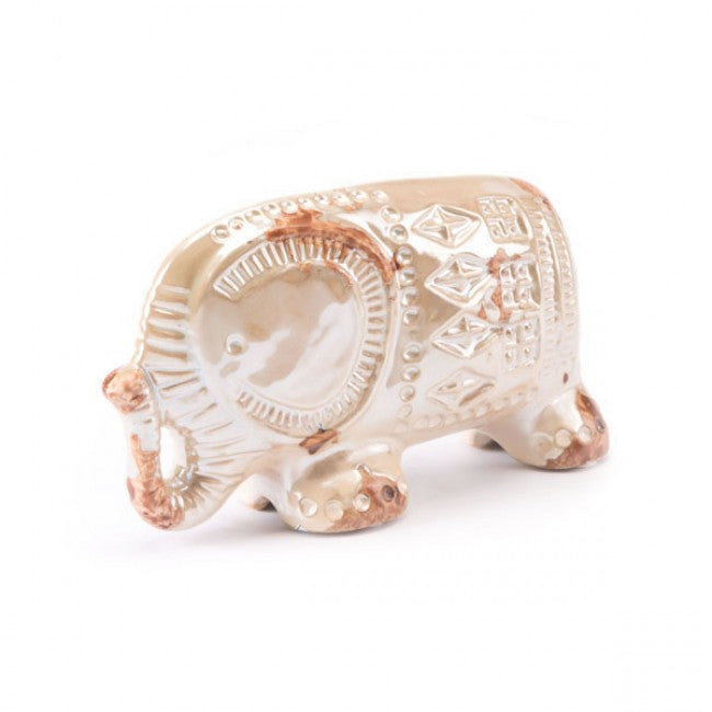 Antique Sm Elephant Distressed Pearl