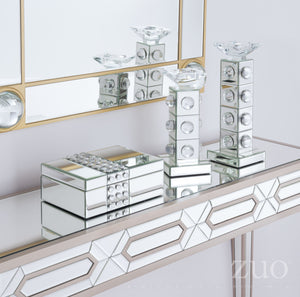 Lucite Mirrored Box Mirror And Lucite