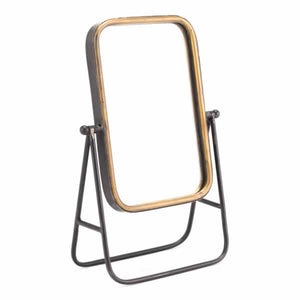 Mirror With Stand Antique Gold
