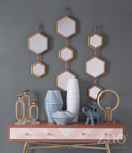 Bee Mirror 3 Gold