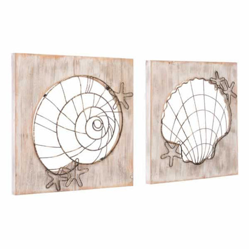 Beach Set Of 2 Wall Décor Antique