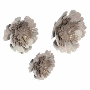 Set Of 3 Antique Flowers Antique