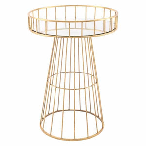 Metal Round Table Lg Gold