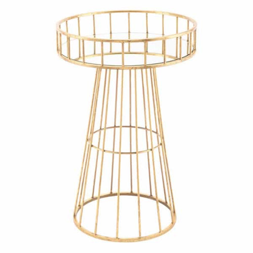 Metal Round Table Sm Gold