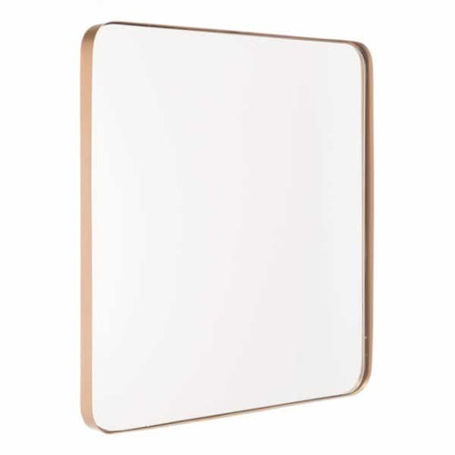 Square Metal Gold Mirror