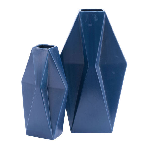 Angle Md Vase Matt Blue