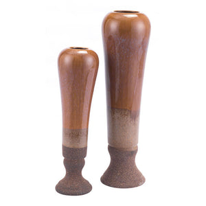 Allium Tall Vase Brown