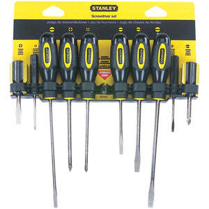 Stanley 10-piece Standard Fluted Screwdriver Set