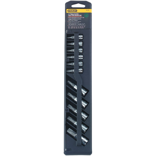 "Stanley 11-piece 1 And 4"" & 3 And 8"" Professional Grade Star-style Bit Set"