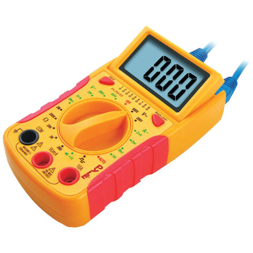 Pyle Pro Mini Digital Lcd Dc & Ac Voltages Dc Current Resistance & Diode Multimeter