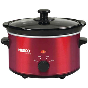 Nesco 1.5-quart Oval Slow Cooker (metallic Red)