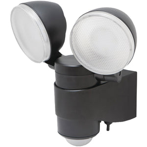 Maxsa Innovations Battery-powered Motion-activated Dual-head Led Security Spotlight