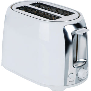 Brentwood 2-slice Cool Touch Toaster (white & Stainless Steel)