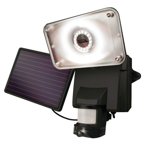 Maxsa Innovations Solar-powered Security Video Camera & Floodlight