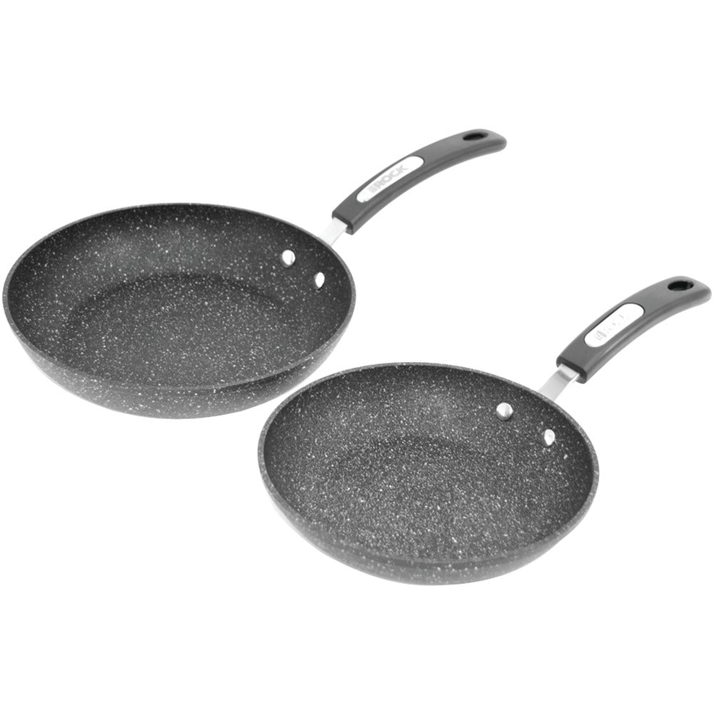 The Rock By Starfrit The Rock By Starfrit Set Of 2 Fry Pans With Bakelite Handles