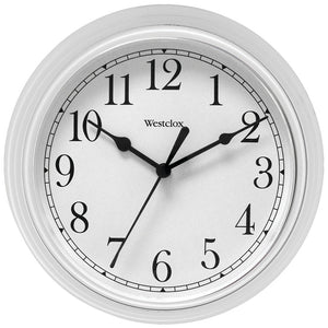 "Westclox 9"" Decorative Wall Clock (white)"