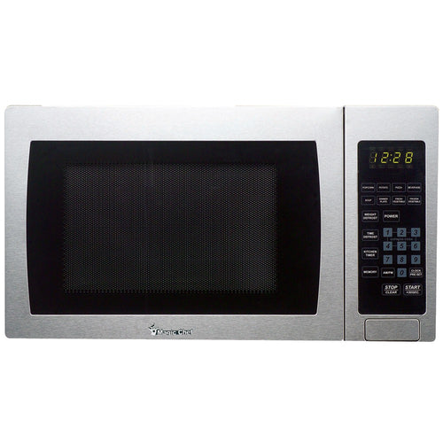 Magic Chef .9 Cubic-ft 900-watt Microwave With Digital Touch (stainless Steel)