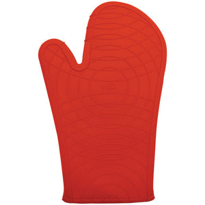 "Starfrit Gourmet Silicone Oven Mitt 12"" Red"