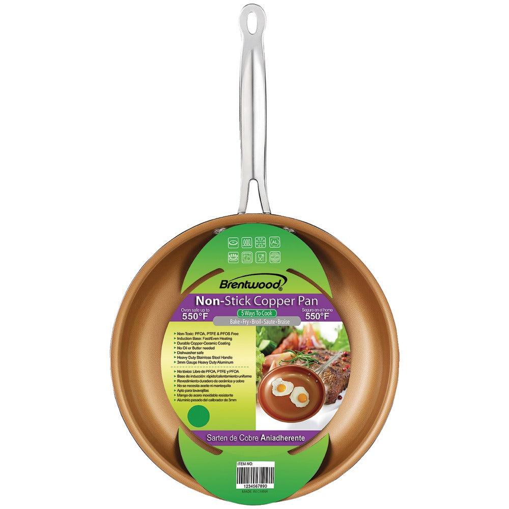 "Brentwood Nonstick Induction Copper Fry Pan (8.5"")"