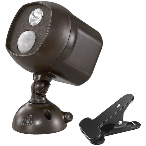 Acclaim Lighting Motion-activated Led Spotlight With Clamp (bronze)
