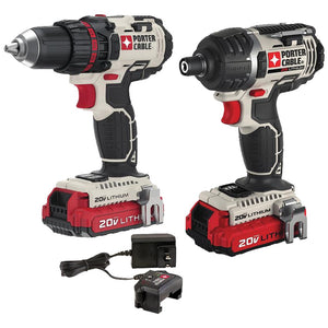 Porter-cable 20-volt Max* Cordless 2-tool Combo Kit With 2 Batteries