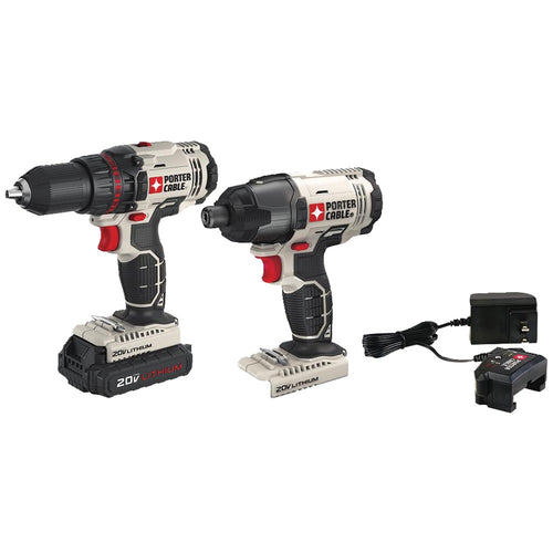 Porter-cable 20-volt Max* Cordless 2-tool Combo Kit With Battery