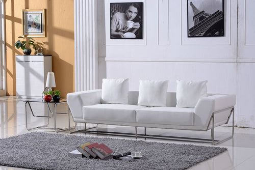 European Style Genuine Leather Sofa Set
